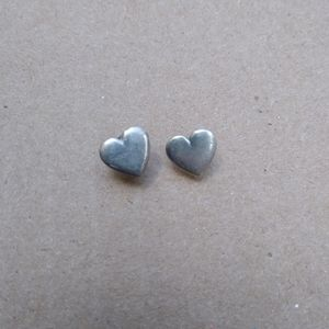 Vintage James Avery Silver Heart Post Earrings